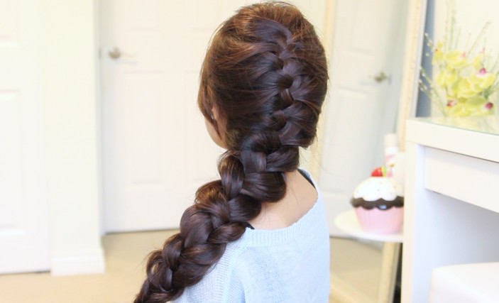 Elsa's French Braid Hairstyle from Disney's Frozen